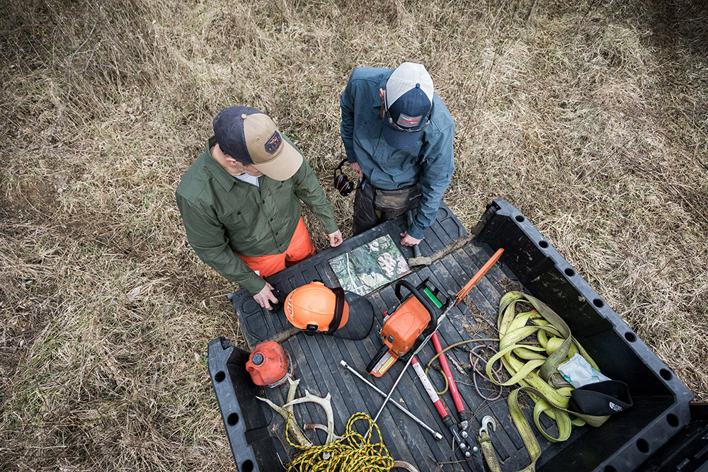 Two guys outline their whitetail habitat restoration plans.