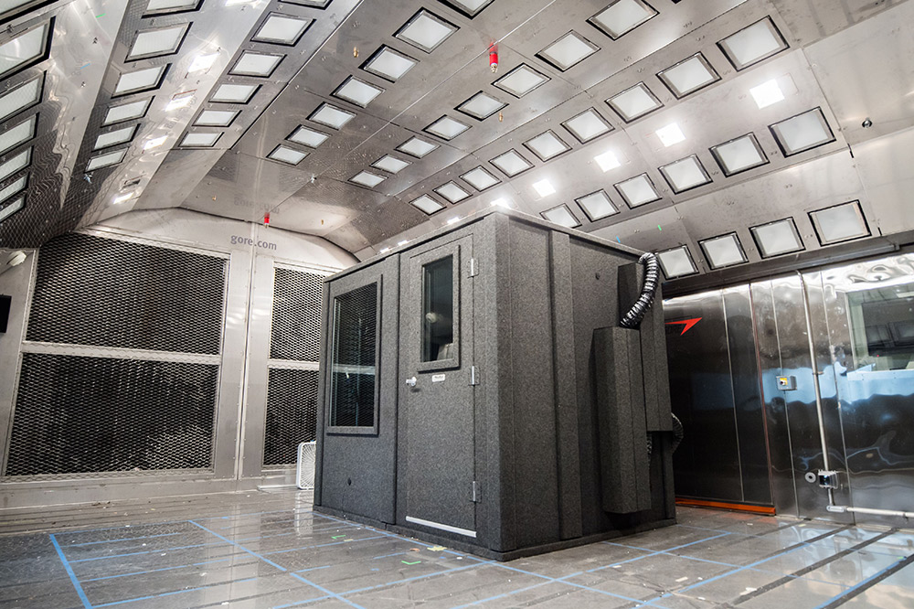 Gore HQ's climate chamber for testing