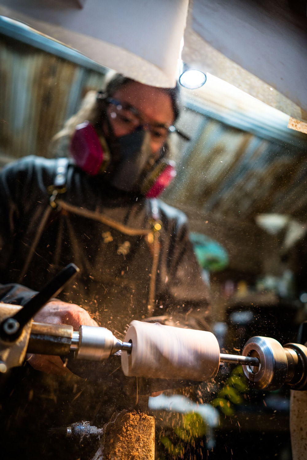 John Stephens crafts a duck call in Stuttgart, Arkansas