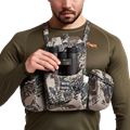 Mountain Optics Harness in Open Country with binos