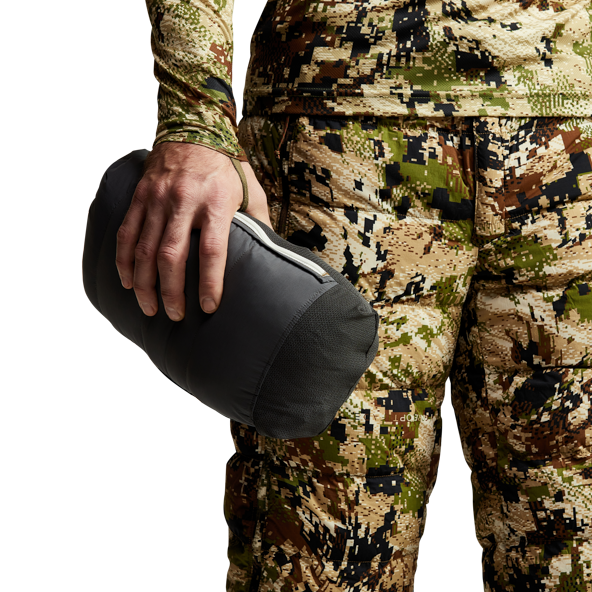 Kelvin Lite Down Jacket Subalpine mapping on sleeves and back