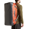 Drifter Duffle 110L in Burnt Orange macro waterproof exterior