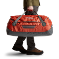 Drifter Duffle 110L in Burnt Orange carrying handles
