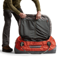Drifter Duffle 110L in Burnt Orange open top