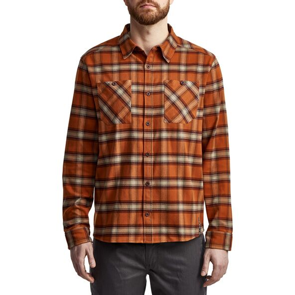Riser Work Shirt in Copper Plaid from the front