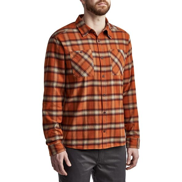 Riser Work Shirt in Copper Plaid from the side
