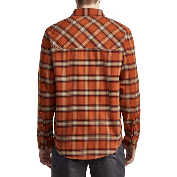 Riser Work Shirt in Copper Plaid from the back