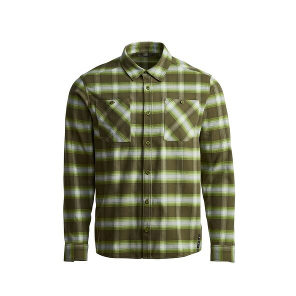 Riser Work Shirt in Covert Plaid