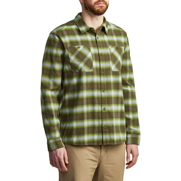 Riser Work Shirt in Covert Plaid from the side