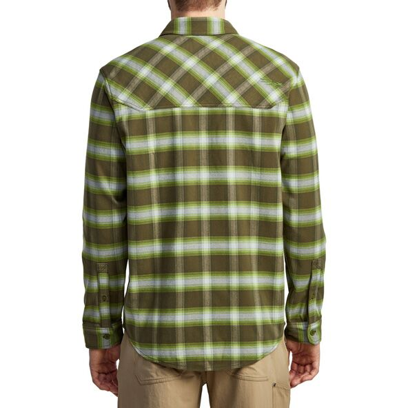 Riser Work Shirt in Covert Plaid from the back