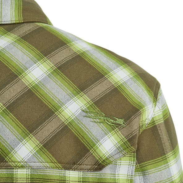 Riser Work Shirt in Covert Plaid button