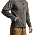 Camp Hoody in Lead chest pocket