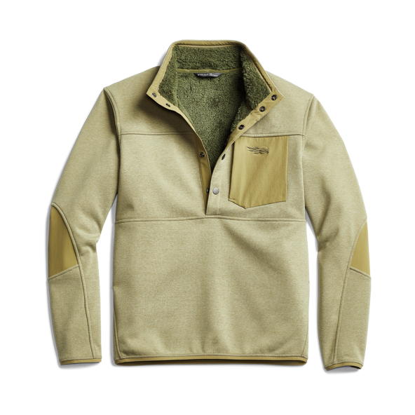 Front Range Snap Fleece in Sagebrush front view