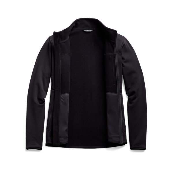Dry Creek Fleece Jacket in SITKA Black front view