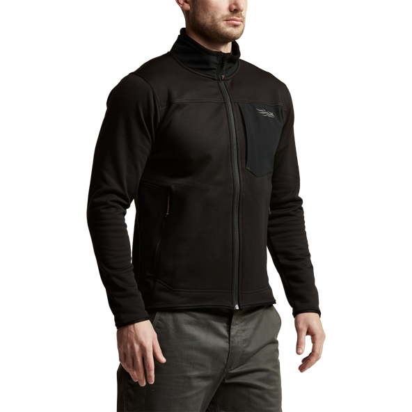 Dry Creek Fleece Jacket in SITKA Black back view