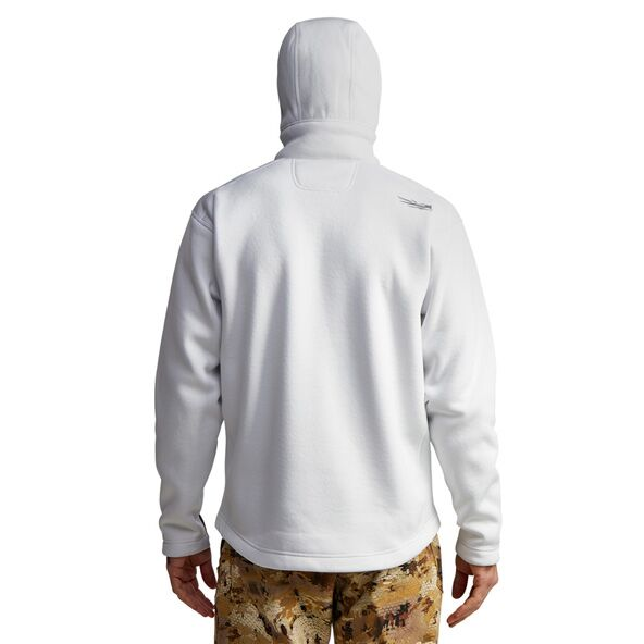 Gradient Hoody in White back view