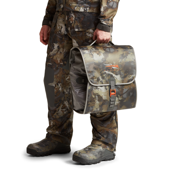 Wader Storage Bag in Waterfowl Timber bottle opener feature