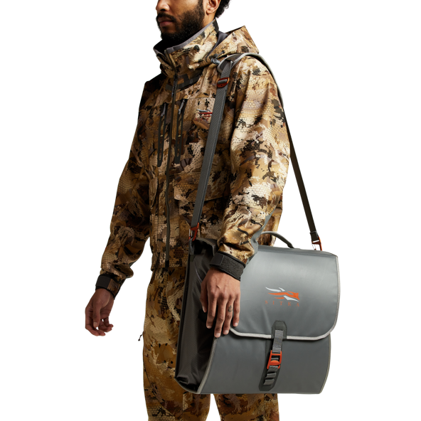 Wader Storage Bag in Lead shoulder strap