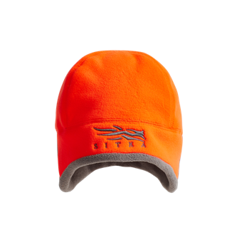 Stratus Windstopper Beanie in Blaze Orange for rifle hunters