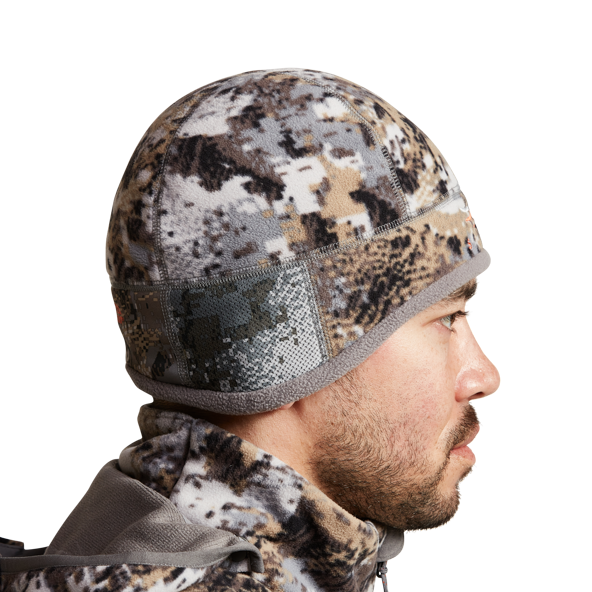 Stratus Windstopper Beanie in Elevated II side view with new hearing ear ports