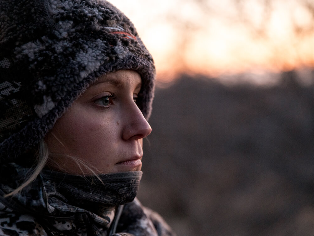 Waiting on a big buck in the Women's Fanatic Beanie