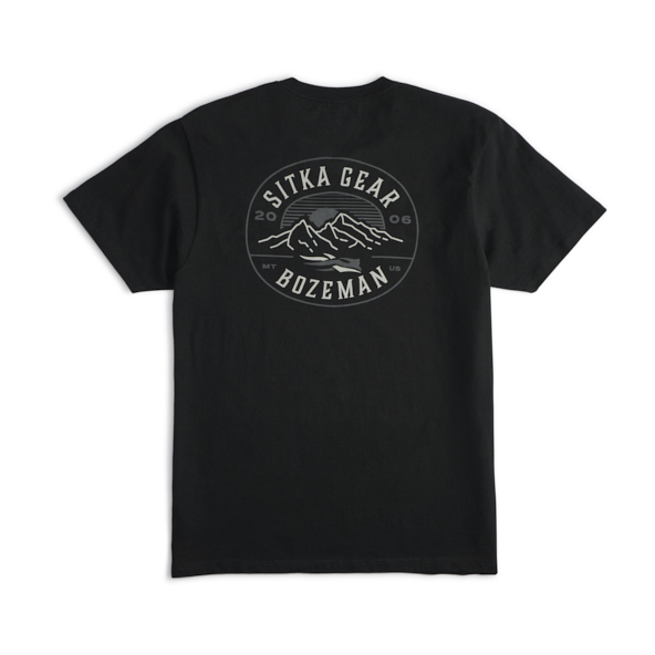 Back of Altitude Tee in SITKA Black