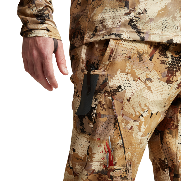 Dakota Pant for waterfowlers in Marsh zipper pockets and knife sheath